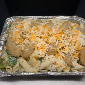 Crispy Chicken Broccoli Penne Alfredo