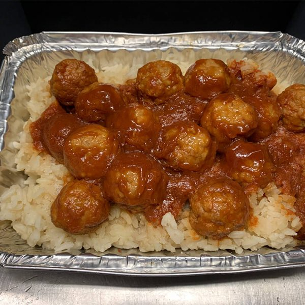 Sweet and Sour Meatballs and Rice